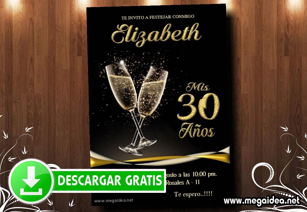 30 Cumple Invitacion MUESTRA