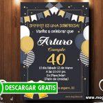Invitación Fiesta Sorpresa 40 Años