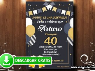 40 Cumple Sorpresa Invitacion