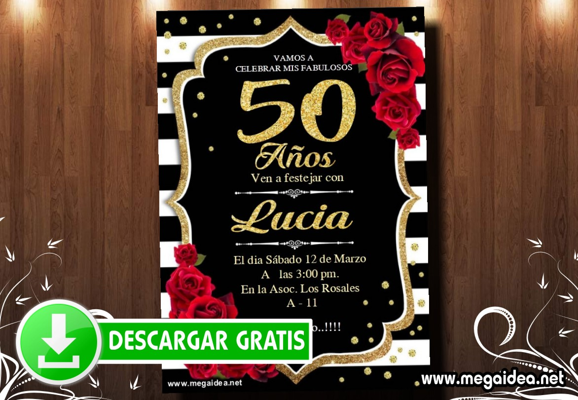 50 Cumple Invitacion MUESTRA