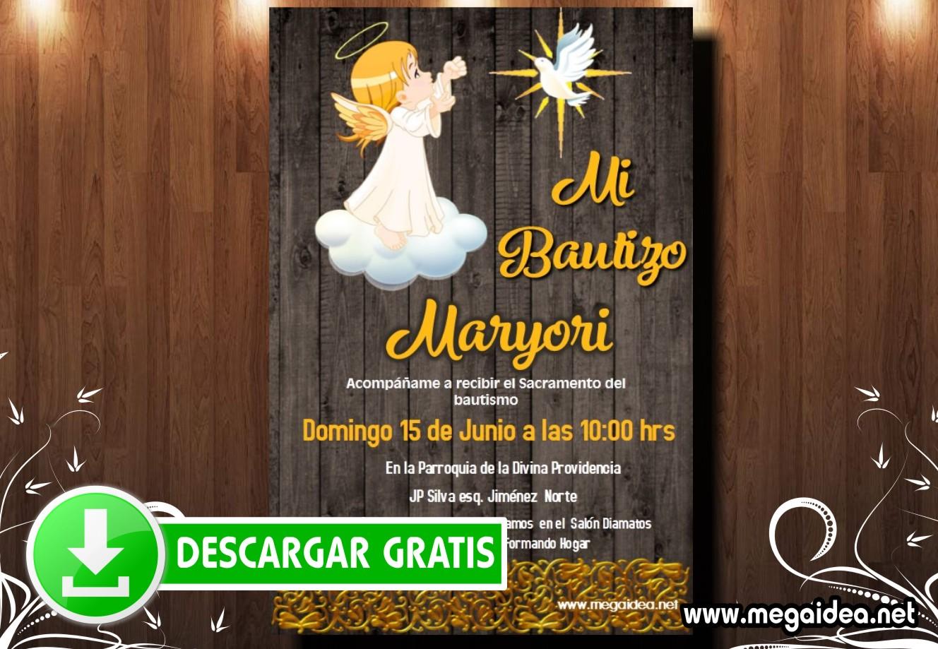 Bautizo Girl2 Invitacion