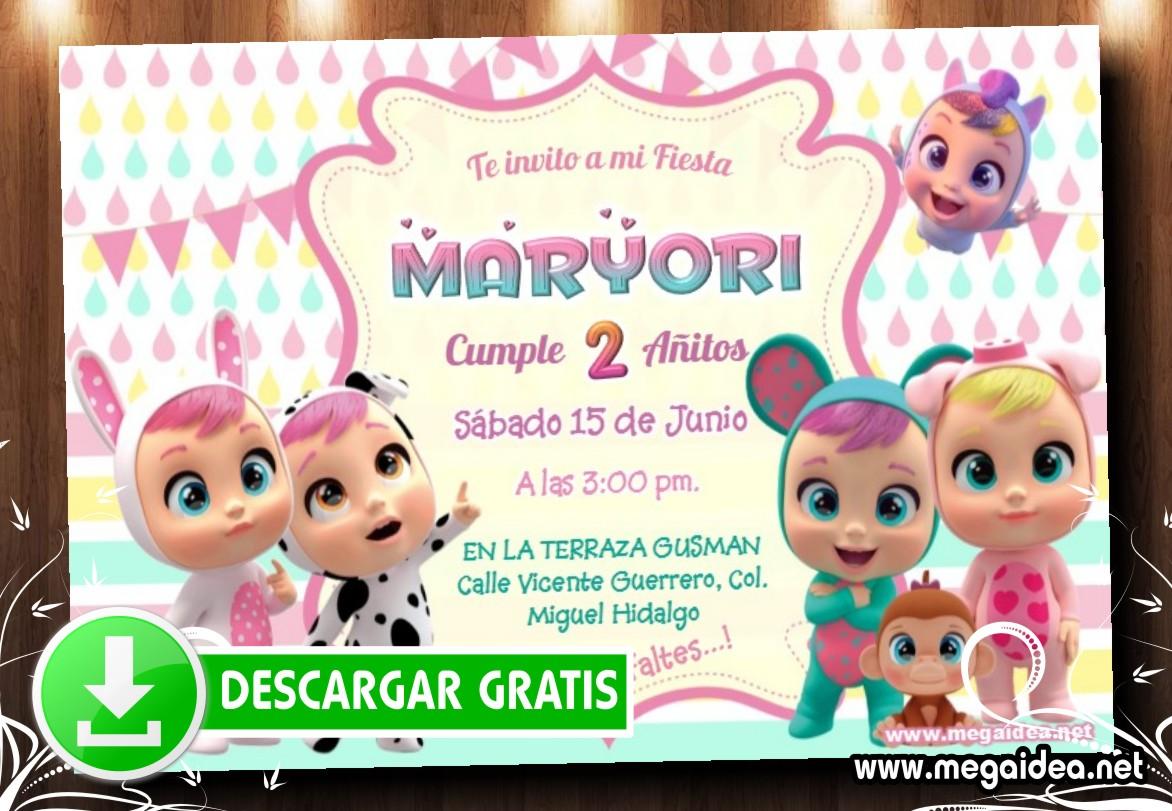 Bebe Cry Invitacion MUESTRA