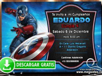 Capitan America Invitacion