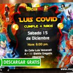 Invitaciones de Dragon Ball Super para Editar GRATIS