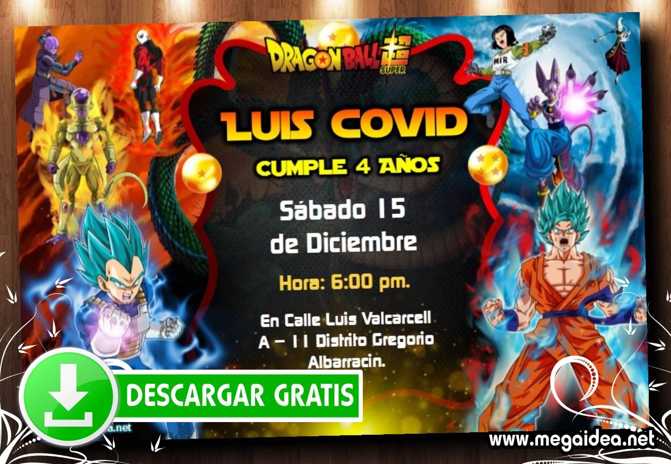 Dragon Ball Super Invitacion