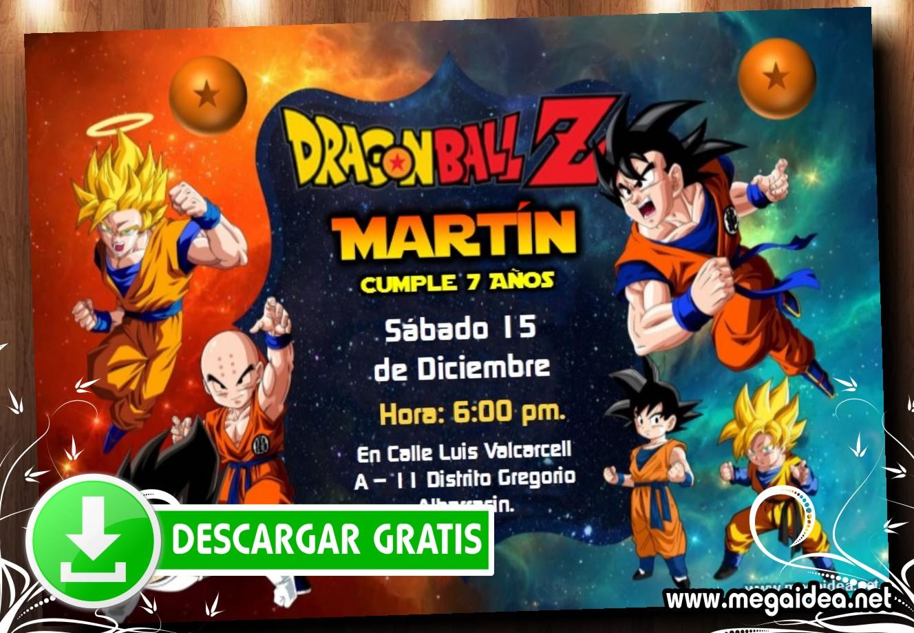 Dragon Ball Z invitacion