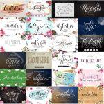 25 Fuentes Premium Super Pack De 25 Tipografías