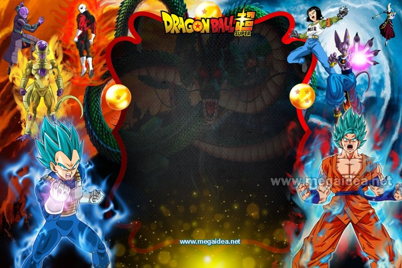 FONDO Dragon Ball Super Invitacion