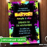 Invitaciones Fluor para Editar GRATIS