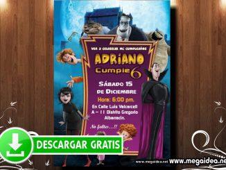 Hotel Transilvania 03 Invitacion