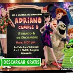 Invitaciones de Hotel Transilvania 3 GRATIS