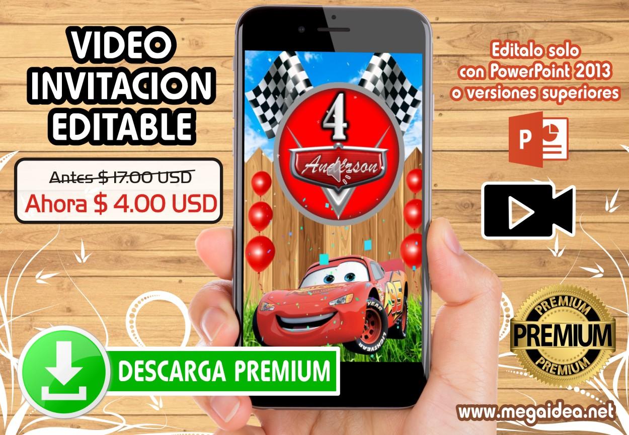 Invitacion Cars Premium