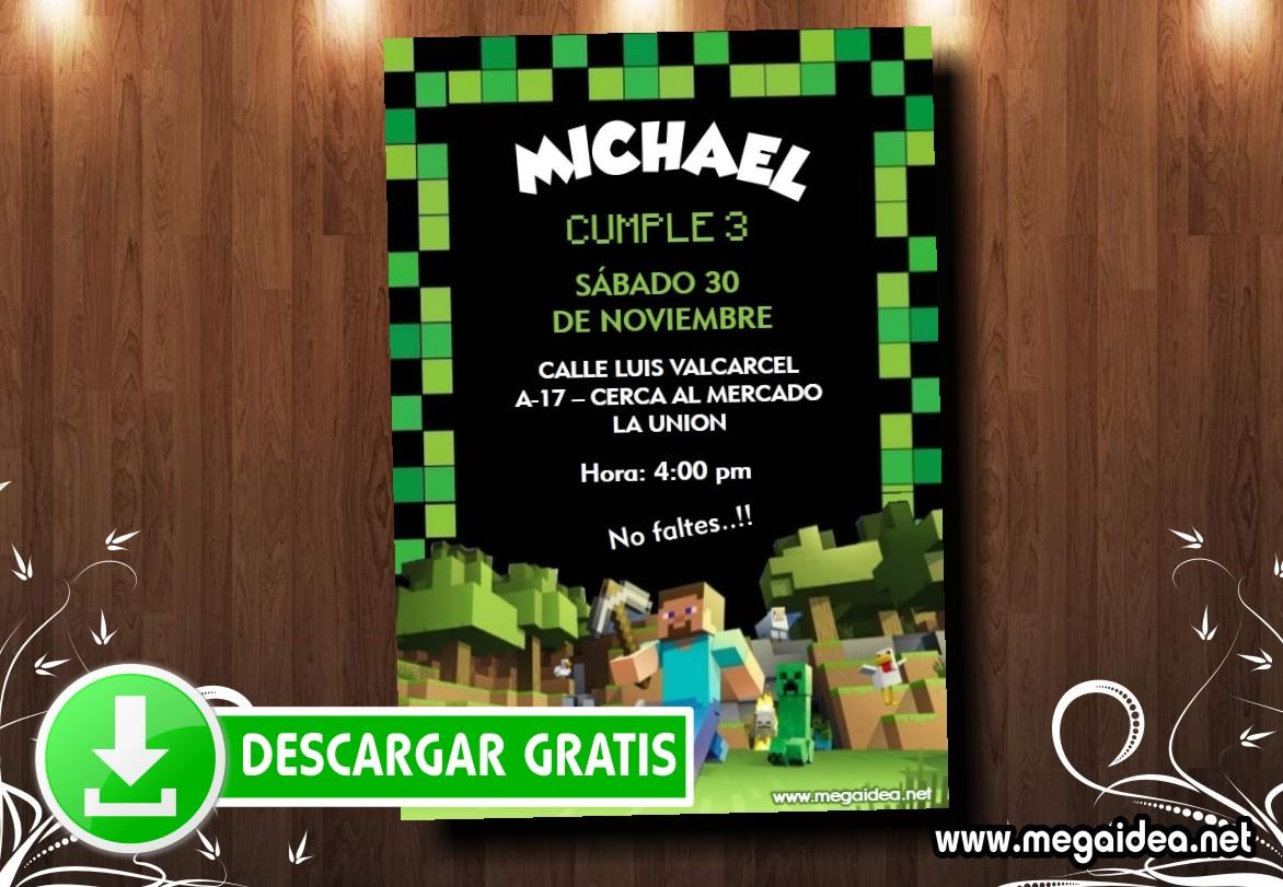 Minecraft Invitacion MUESTRA