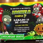 Plantas vs Zombies Invitaciones GRATIS