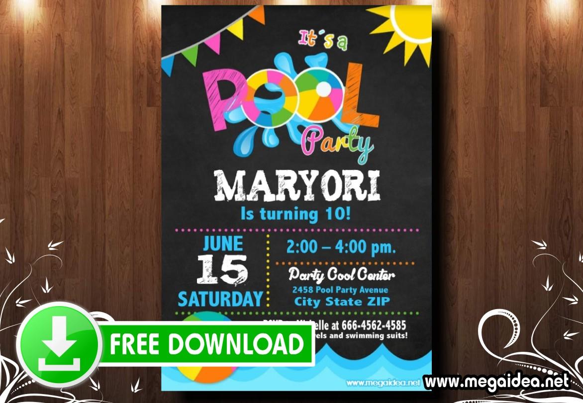 Pool Party Invitacion