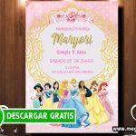 Invitacion de Princesas Disney para Imprimir