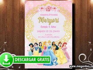 Princesas Invitacion