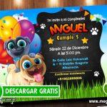 Invitacion de Cumpleaños Puppy Dog Pals