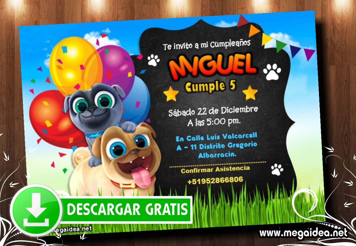 Puppy Dog Pals 2 Invitacion MUESTRA