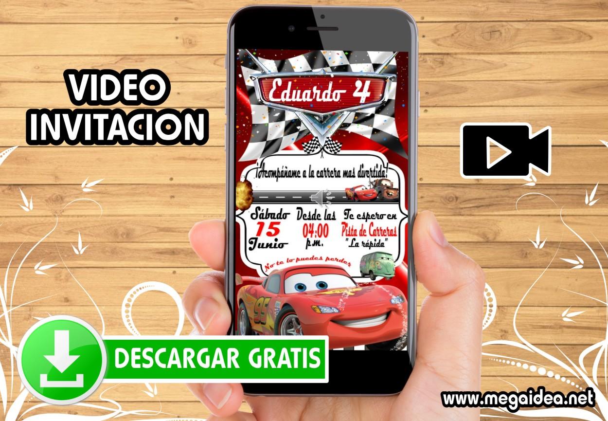 Video Invitacion Cars GRATIS