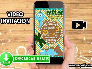 Video Invitacion Dinosaurios GRATIS