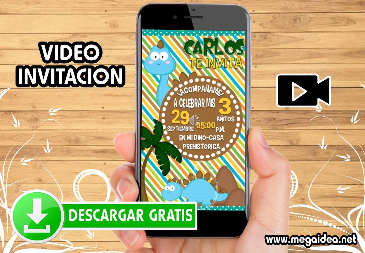 Video Invitacion Cumpleaños Dinosaurios Gratis Mega Idea