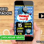 Video Invitacion del Tren Thomas GRATIS
