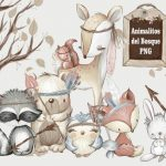 Animalitos del Bosque PNG Clipart Elements