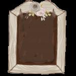 flores en pizarra