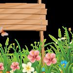 flores sin fondo madera megaidea