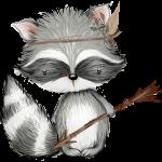 mapache del bosque
