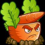 plantas vs zombies zanahoria