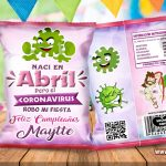 Chips Bags Cumpleaños Mujer Coronavirus Abril