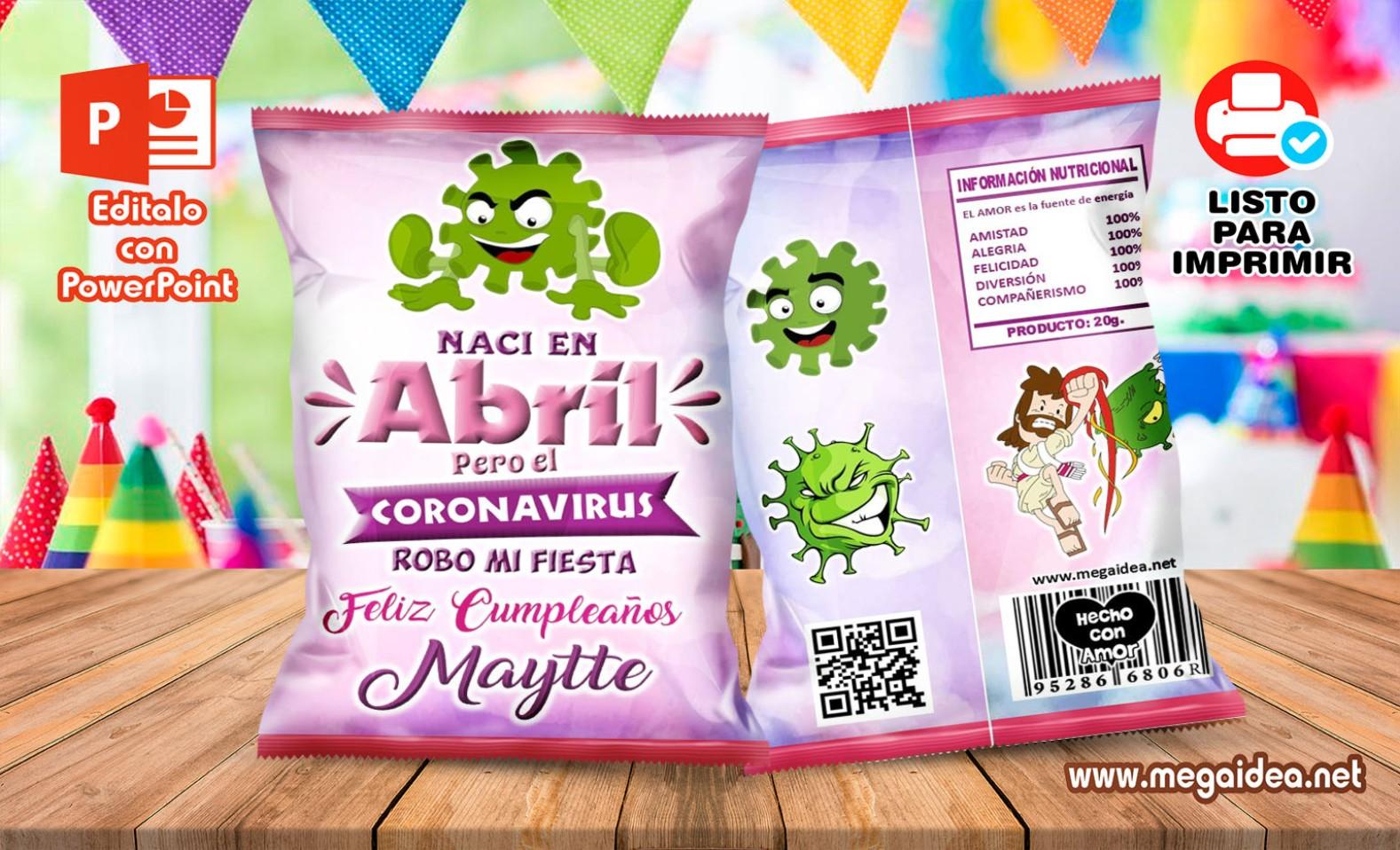 Abril Coronavirus Girl ChipsBags