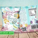 Chips Bags Feliz Pascua 02 Bolsas para Dulces GRATIS