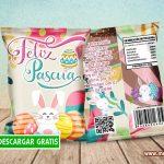 Chips Bag Feliz Pascua Bolsas para Dulces GRATIS