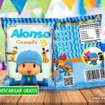 Pocoyo Chip Bags Bolsas para Galletas GRATIS