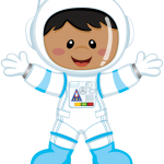 astronauta clipart 3