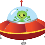 astronauta clipart alien 7544