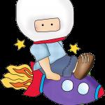 astronauta clipart animado 333