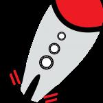 astronauta clipart cohete 1