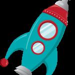 astronauta cohete clipart