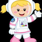 astronauta girl clipart2