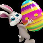 conejo y huevo pascua