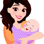 feliz dia mama y bebe