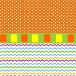fondo naranja y colores