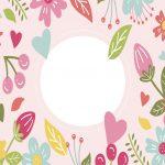 fondo rosado flores