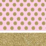 fondo rosado puntos dorados