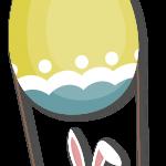 huevo conejo pascua volando