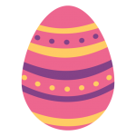 huevo pascua pintado